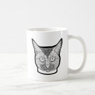 Cat Line Art Design Coffee Mug