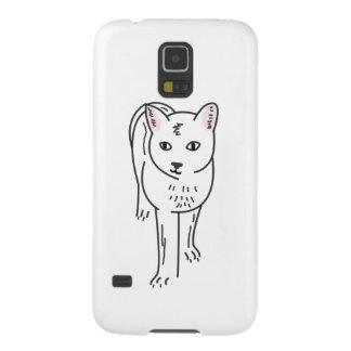 Cat Line Art, Digital Illustration Galaxy S5 Cases