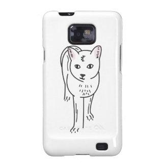 Cat Line Art, Digital Illustration Galaxy SII Covers