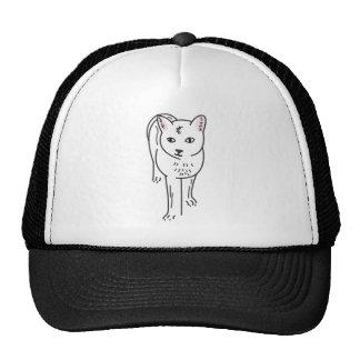 Cat Line Art, Digital Illustration Trucker Hat