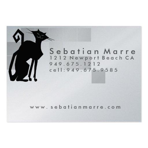Cat Logo Design - Business Card Platinum