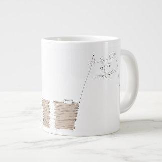 Cat looking with empty dish jumbo mug