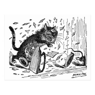 Cat Loses Dinner When Mouse Escapes Postcard