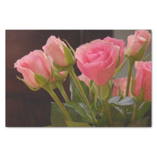 Cat Loss Sympathy with Pink Roses Tissue Paper