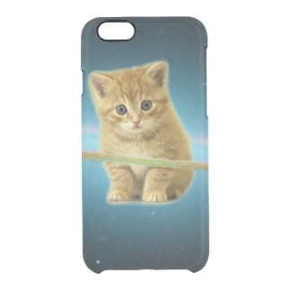 Cat lost in space clear iPhone 6/6S case