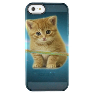Cat lost in space clear iPhone SE/5/5s case