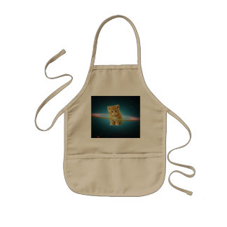 Cat lost in space kids apron