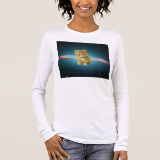 Cat lost in space long sleeve T-Shirt