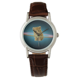 Cat lost in space wrist watches