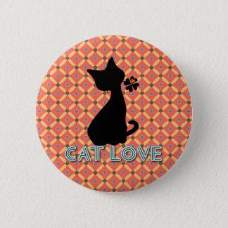 Cat Love Botton 6 Cm Round Badge