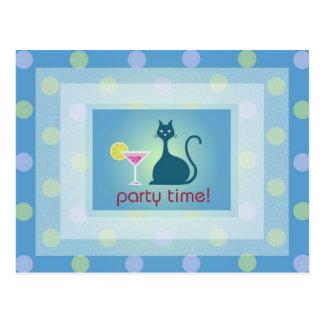 Cat Love Cocktail Design Party Inviation Postcard