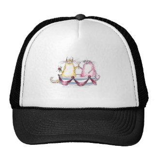 cat love - funny cartoon, tony fernandes hats