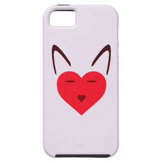 Cat Love Image Expressed With Heart Design Logo iPhone 5 Cover