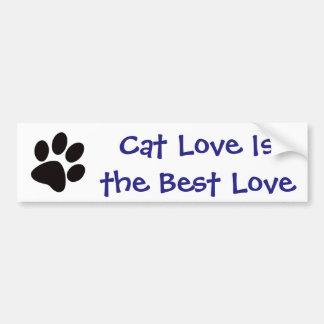Cat Love is the Best Love Bumper Sticker