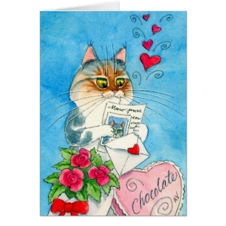 Cat Love Letter Card