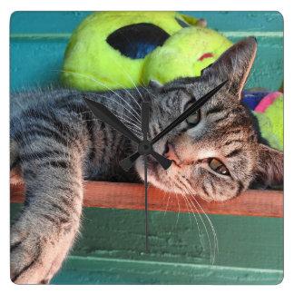 Cat Love Square Wall Clock