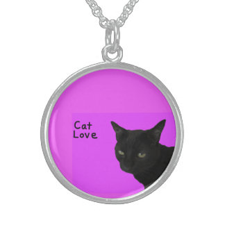 Cat Love Sterling Silver Necklace