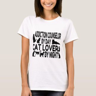 Cat Lover Addiction Counselor T-Shirt