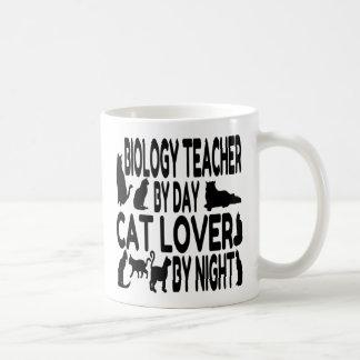 Cat Lover Biology Teacher Coffee Mug