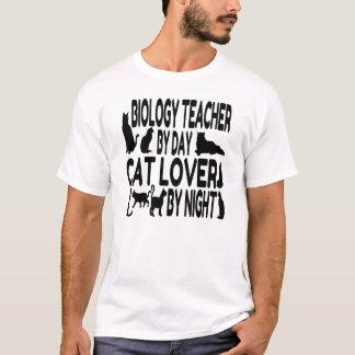 Cat Lover Biology Teacher T-Shirt