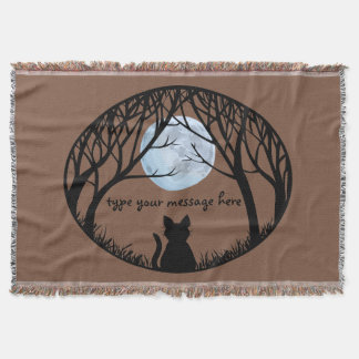 Cat Lover Blanket Le Chat Fat Cat Throw Blanket