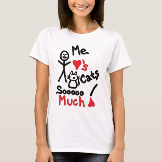 Cat Lover Cartoon T-Shirt