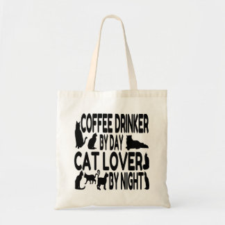 Cat Lover Coffee Drinker Budget Tote Bag
