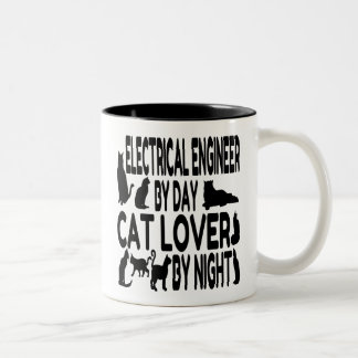 Cat Lover Electrical Engineer Two-Tone Coffee Mug
