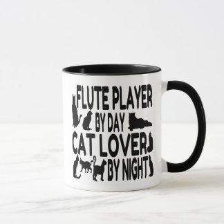 Cat Lover Flute Player Mug