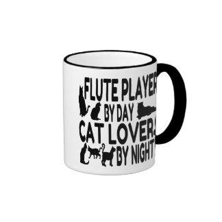 Cat Lover Flute Player Ringer Mug