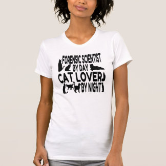 Cat Lover Forensic Scientist T-Shirt