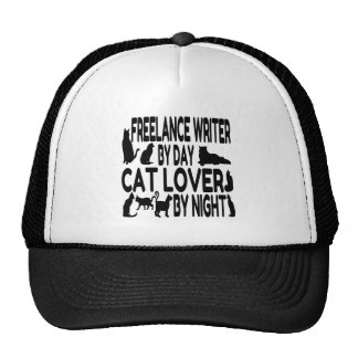 Cat Lover Freelance Writer Cap