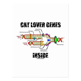 Cat Lover Genes Inside (DNA Replication) Postcard