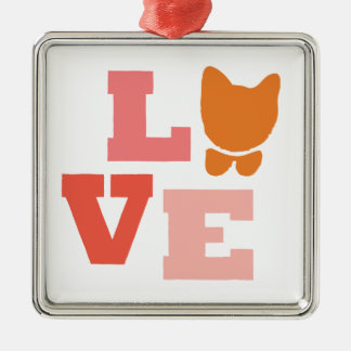 Cat Lover Gifts Silver-Colored Square Decoration