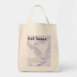 Cat Lover Grocery Tote Grocery Tote Bag