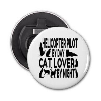 Cat Lover Helicopter Pilot Bottle Opener