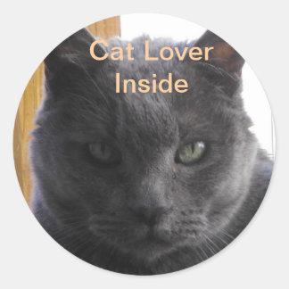 Cat Lover Inside Sticker