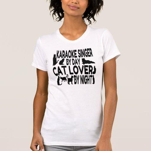 Cat Lover Karaoke Singer Shirt