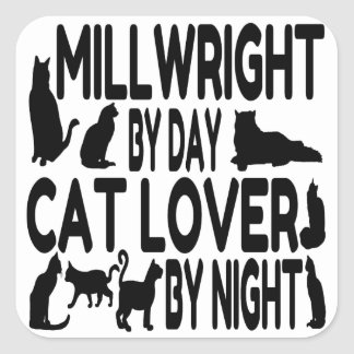 Cat Lover Millwright Stickers