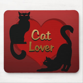Cat Lover Mousepads Customizable Fat Cat Mouse Pad