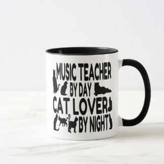Cat Lover Music Teacher Mug