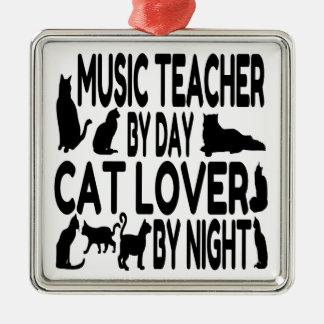 Cat Lover Music Teacher Ornament