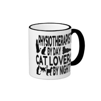 Cat Lover Physiotherapist Ringer Mug