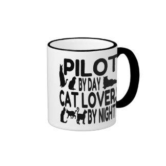 Cat Lover Pilot Ringer Mug