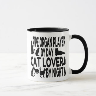 Cat Lover Pipe Organ Player Mug