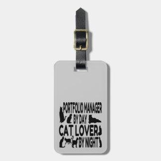 Cat Lover Portfolio Manager Luggage Tag