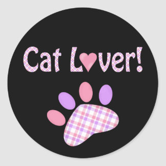 Cat Lover Products Round Sticker