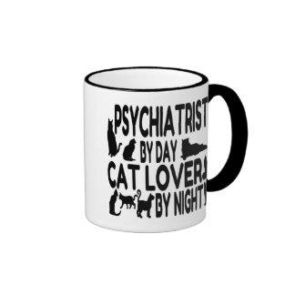 Cat Lover Psychiatrist Ringer Mug