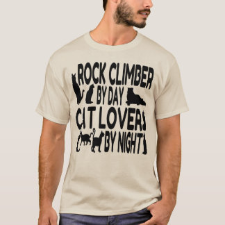 Cat Lover Rock Climber T-Shirt