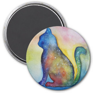 Cat Lover Round Magnet